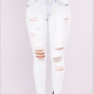 ankle light wash jeans